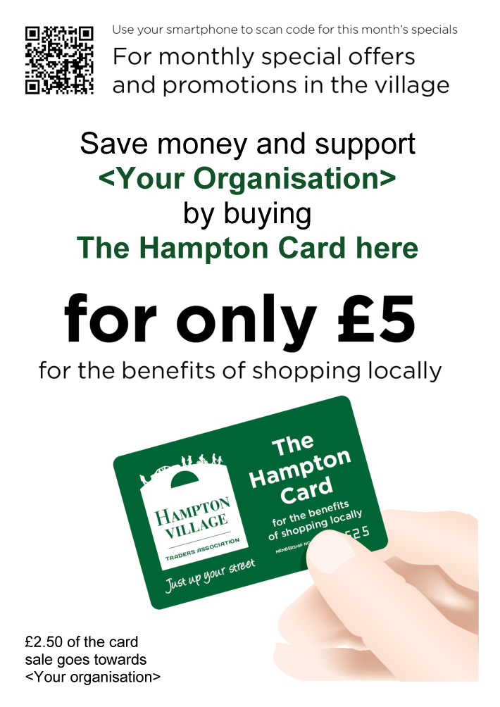 Hampton Card Monthly offers template